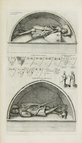 DUGDALE, WILLIAM. 1605-1686. The Antiquities of Warwickshire Illustrated.... London: Thomas Warren, 1656.<BR />