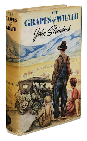 STEINBECK, JOHN. 1902-1968. The Grapes of Wrath. New York: Viking Press, [1939].