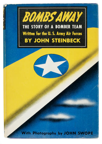 STEINBECK, JOHN. 1902-1968. Bombs Away. The Story of a Bomber Team. New York: Viking Press, 1942.
