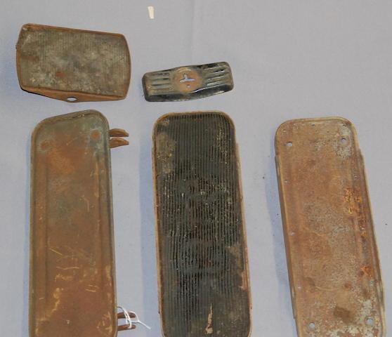 An assortment of foot boards,