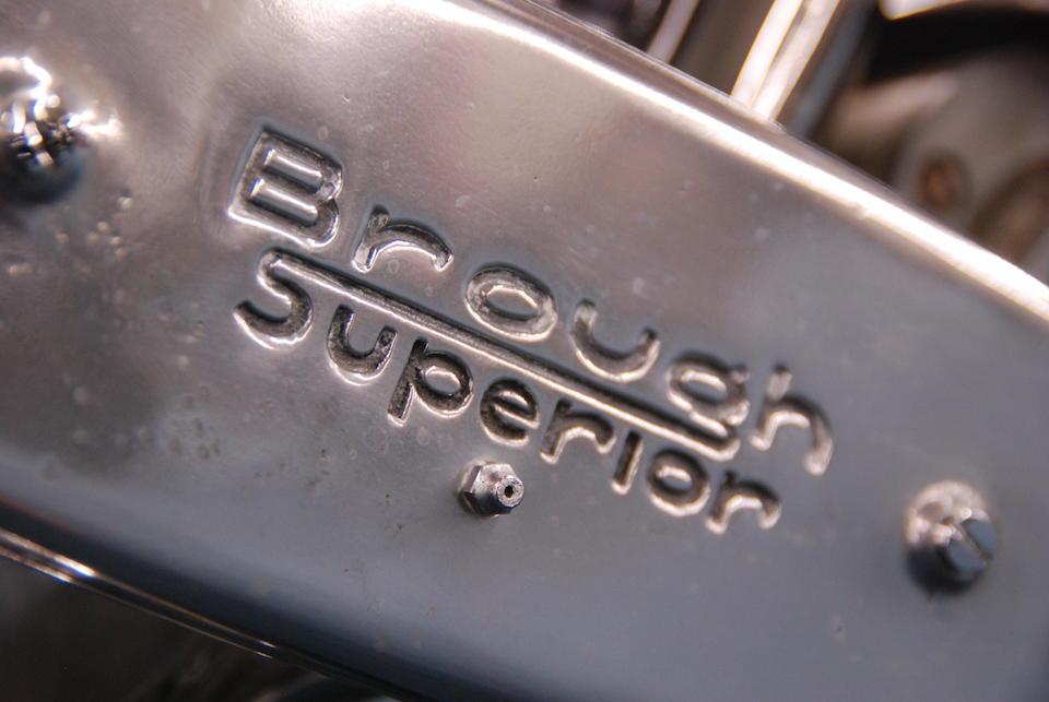 J W Tennant-Eyles restoration,1937 Brough Superior SS100 Frame no. M1/1897 Engine no. BS/X2 1099