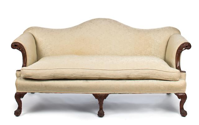 A George II carved mahogany sofa mid-18th century height 31in; width 73in; depth 22in; height 20in