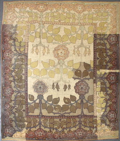A European carpet size approximately 8ft. 10in. x 10ft. 5in.