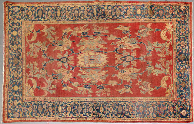 A Sultanbad carpet  size approximately 5ft. 4in. x 8ft. 2in.