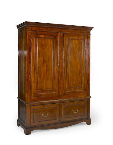 A George III mahogany wardrobe