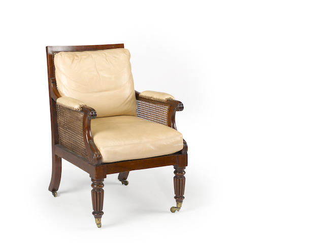 A William IV mahogany bergère