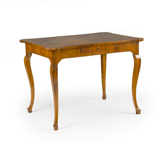 An Italian rococo fruitwood table