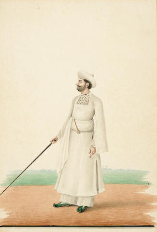 Studio of S. Muhammed Amir of Karraya Nine studies of various officials, washermen and water carriers