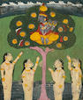 A group of eleven Vishnu avatar cards, Jaipur