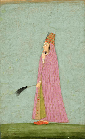 Star of the Court - A portrait of a princess Late Mughal, circa 1760-70