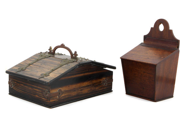 A group of three Continental table boxes