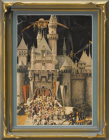 Jess (1923-2004) Untitled (Disneyland Opens), 1955 framed 17 1/2 x 13 3/4in (44.5 x 34.9cm)