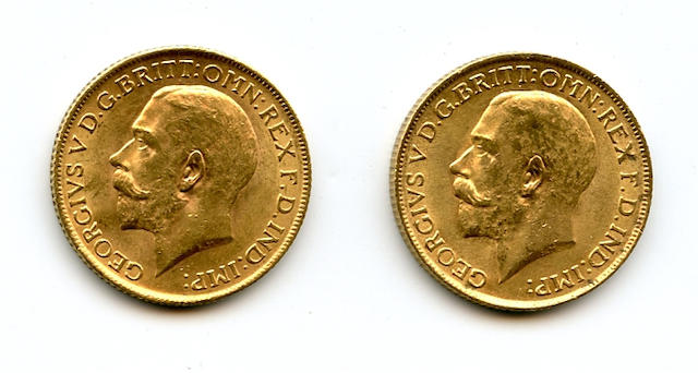 England, George V, Sovereigns, 1912 (2)