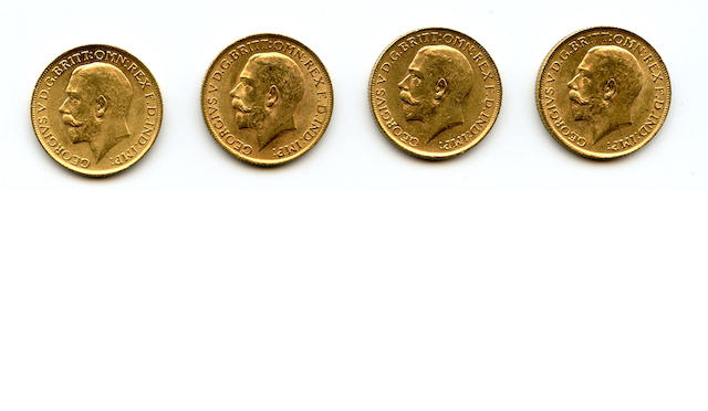 England, George V, Sovereigns, 1912 (4)