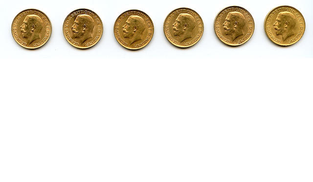 England, George V, Sovereigns, 1912 (6)
