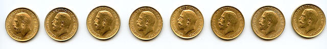 Great Britain, George V, Sovereigns, 1912 (8)