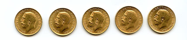 England, George V, Sovereigns, 1912 (5)
