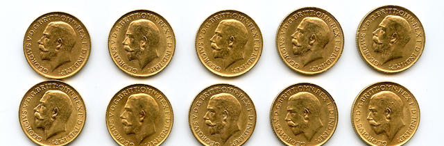 England, George V, Sovereigns, 1912 (10)