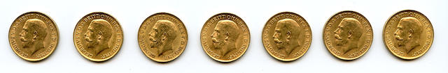 England, George V, Sovereigns, 1912 (7)