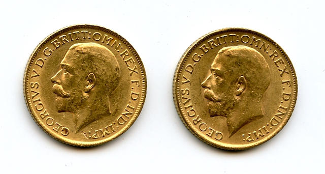 England, George V, Sovereigns, 1913 (2)