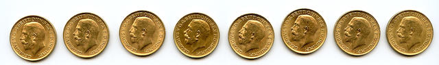 England, George V, Sovereigns, 1913 (8)