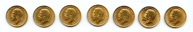 Great Britain, George V, Sovereigns, 1913 (7)