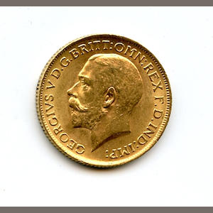 England, George V, Sovereign, 1913