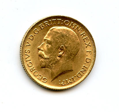 England, George V, Sovereign, 1913