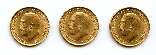 England, George V, Sovereigns, 1914 (3)