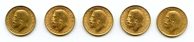 England, George V, Sovereigns, 1914 (5)