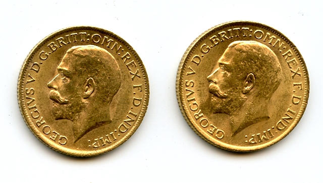 England, George V, Sovereigns, 1915 (2)
