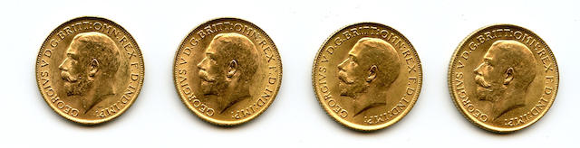 England, George V, Sovereigns, 1915 (4)