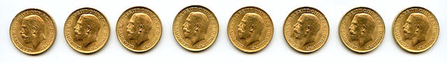 Great Britain, George V, Sovereigns, 1915 (8)