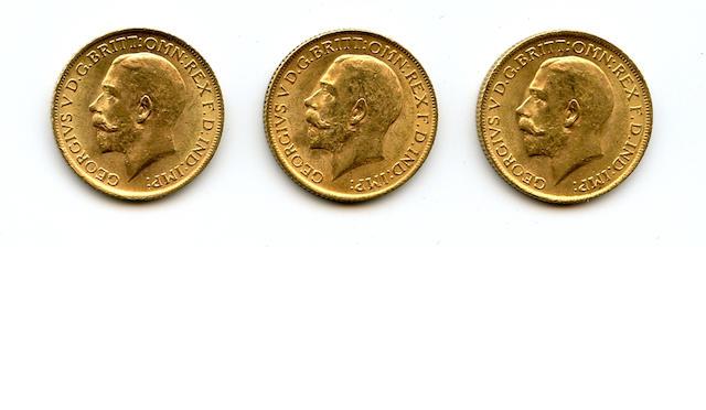 England, George V, Sovereigns, 1915 (3)