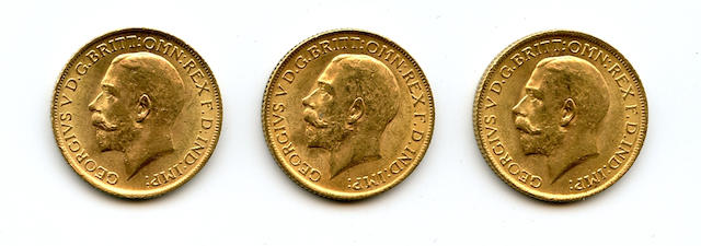 England, George V, Sovereigns, 1915 (3)