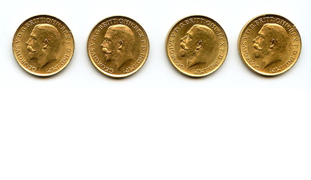 Australia, George V, Sovereigns, 1915-S (4)