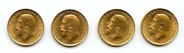 Australia, George V, Sovereigns, 1915-S (4)