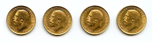 Australia, George V, Sovereigns, 1917-P (4)
