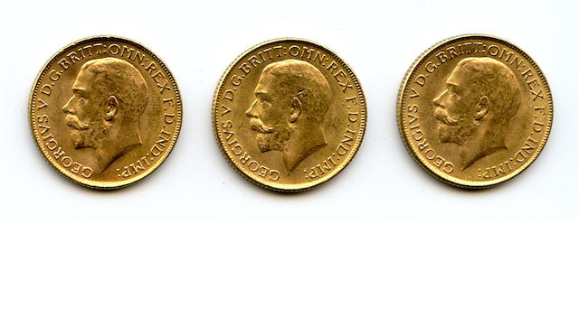 India, George V, Sovereigns, 1918-I (3)
