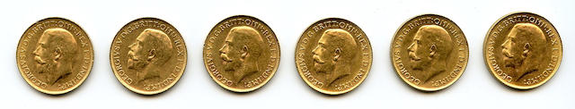 Australia, George V, Sovereigns, 1918-P (6)