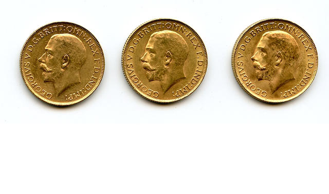 South Africa, George V, Sovereigns, 1925-SA (3)