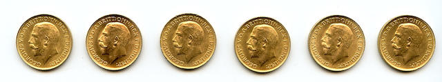 Great Britain, George V, Sovereigns, 1925 (6)