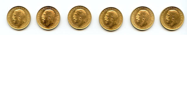 England, George V, Sovereigns, 1925 (6)