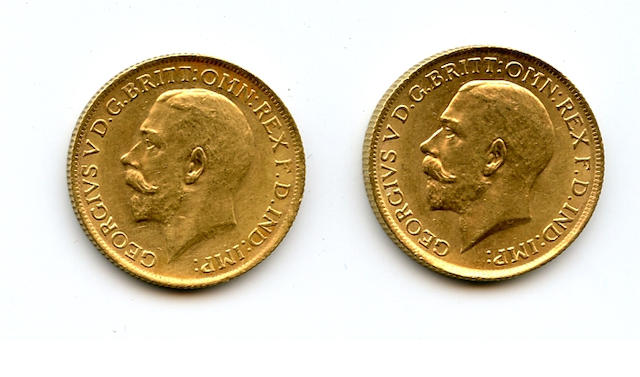 Australia, George V, Sovereigns, 1925-S (2)