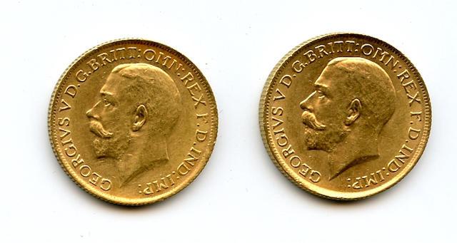 Australia, George V, Sovereigns, 1925-S (2)