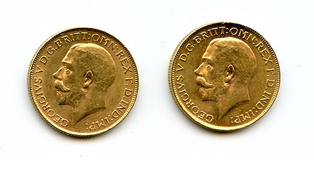 South Africa, George V, Sovereigns, 1925-SA (2)
