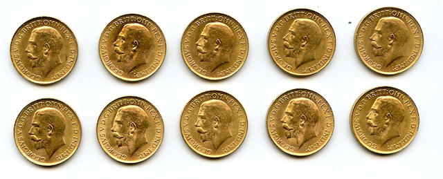 South Africa, George V, Sovereigns, 1927-SA (10)