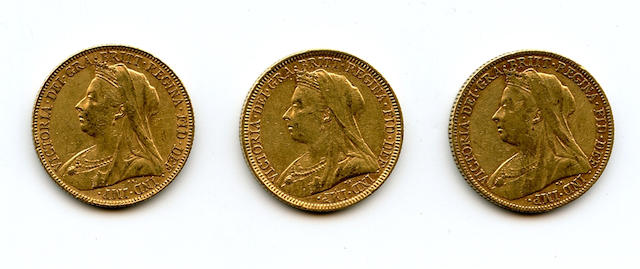 Australia, Victoria, Sovereigns (3)