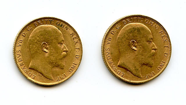 England, Edward VII, Sovereigns, 1903 (2)