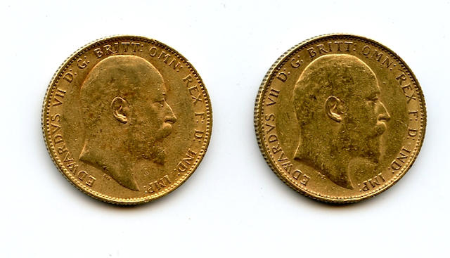 Australia, Edward VII, Sovereigns, 1905-P (2)